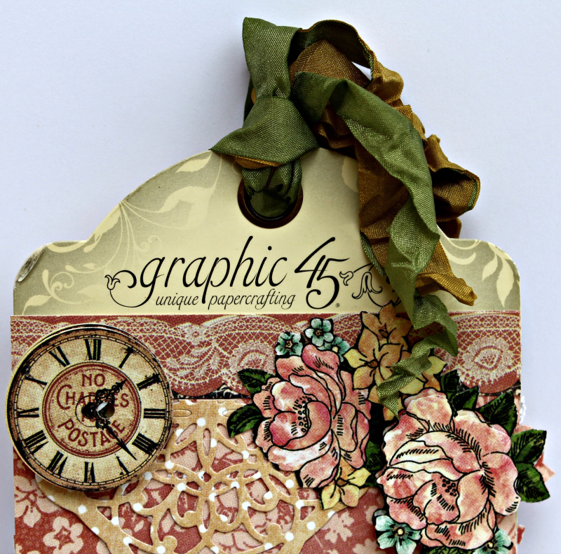 Graphic 45 A Ladies' Diary Upcycled Tag and Bracelet by Pam Bray - Photo 11_5150