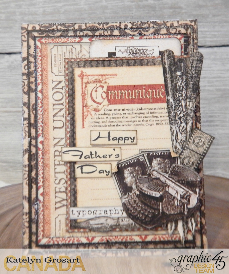 Father's Day Card Set  Communique DCE  Tutorial By Katelyn Grosart  Product By Graphic 45  Photo 6