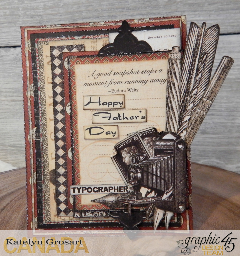 Father's Day Card Set  Communique DCE  Tutorial By Katelyn Grosart  Product By Graphic 45  Photo 2