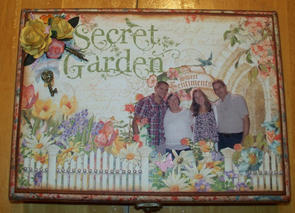 Secret Garden altered box by Kathy Dedrick