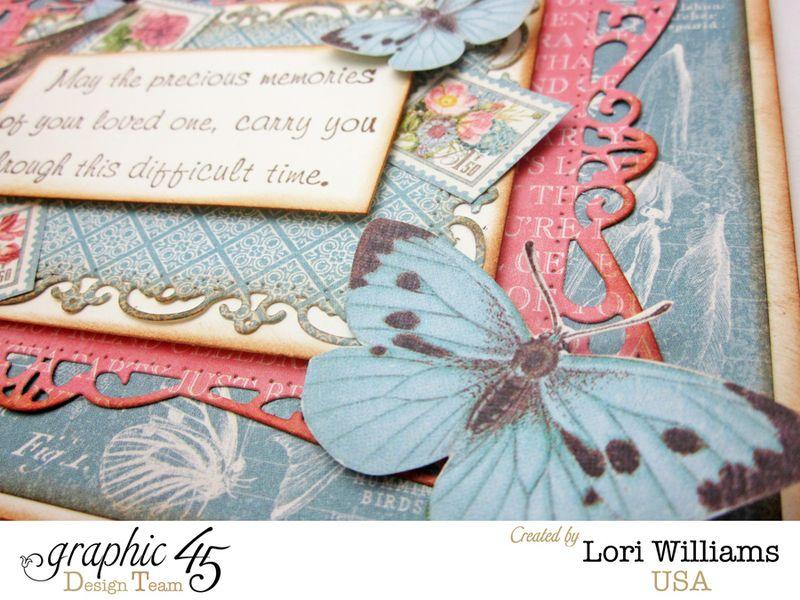 Botanical Tea Graphic 45 Lori Williams Sympathy Card Close Up Three