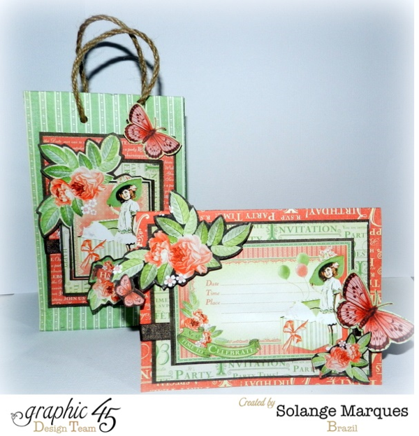 Got to make this! Graphic 45 Gift Bag and Card Snapguide Tutorial