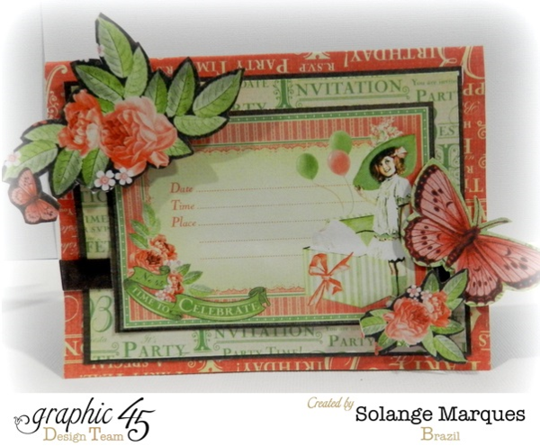 Solange Marques Graphic 45 Time to Celebrate Card + Tutorial