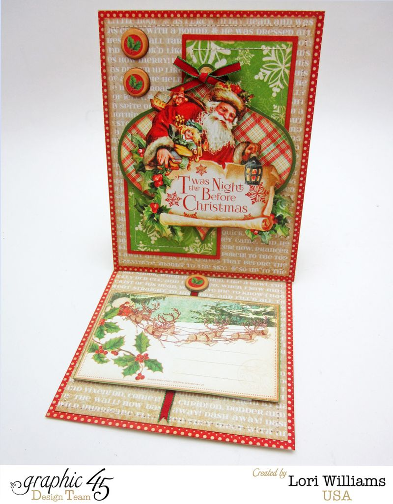 Twas the night before christmas easel card open lori williams graphic 45
