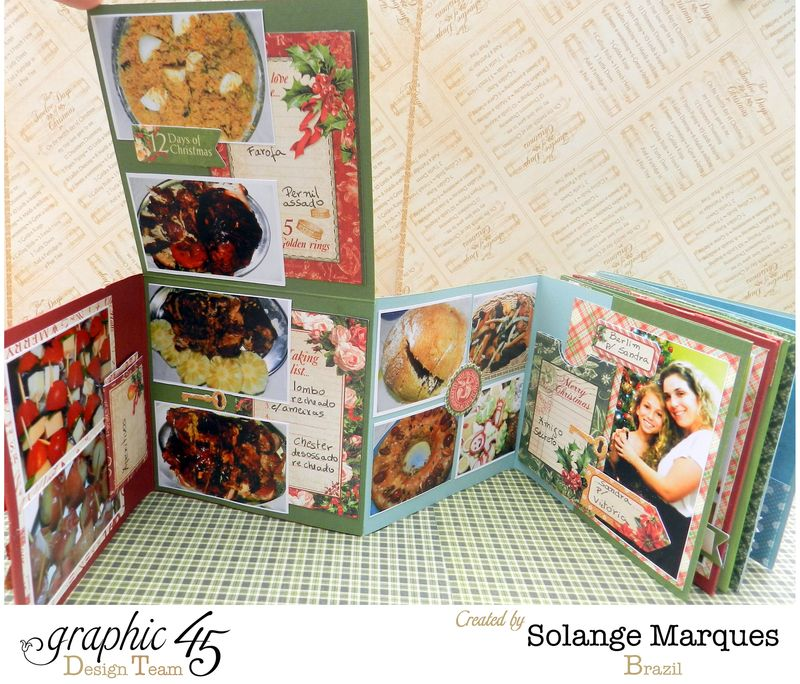 Graphic 45- Core dinations Cardstock- 12 days of Christmas Collection-mini album (8)