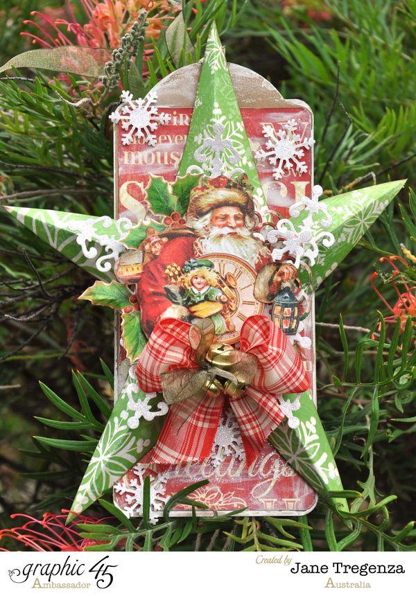 Graphic 45 Christmas Star Decoration