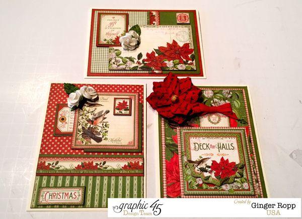Graphic 45 Time to Flourish Christmas Card Trio