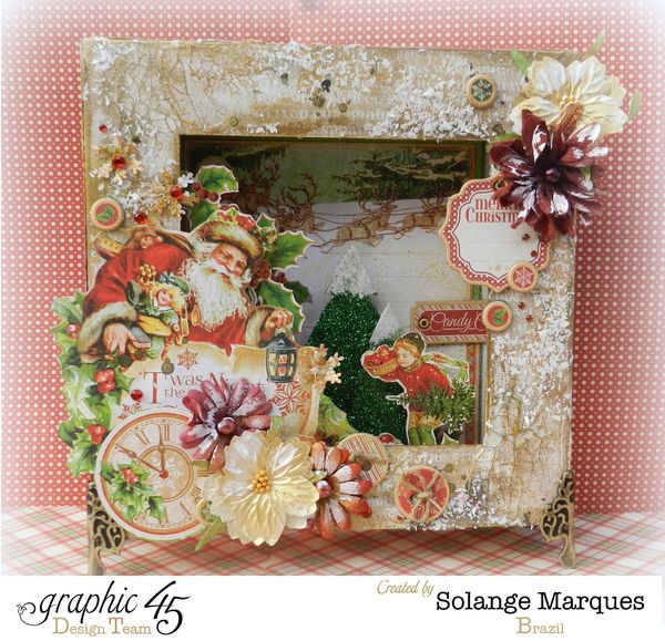 G45 December project Mixed Media Christmas Box 1