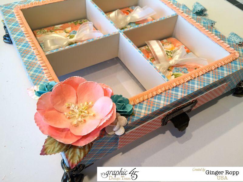 Precious Memories Shadow Box with Feet and Coasters Closeup