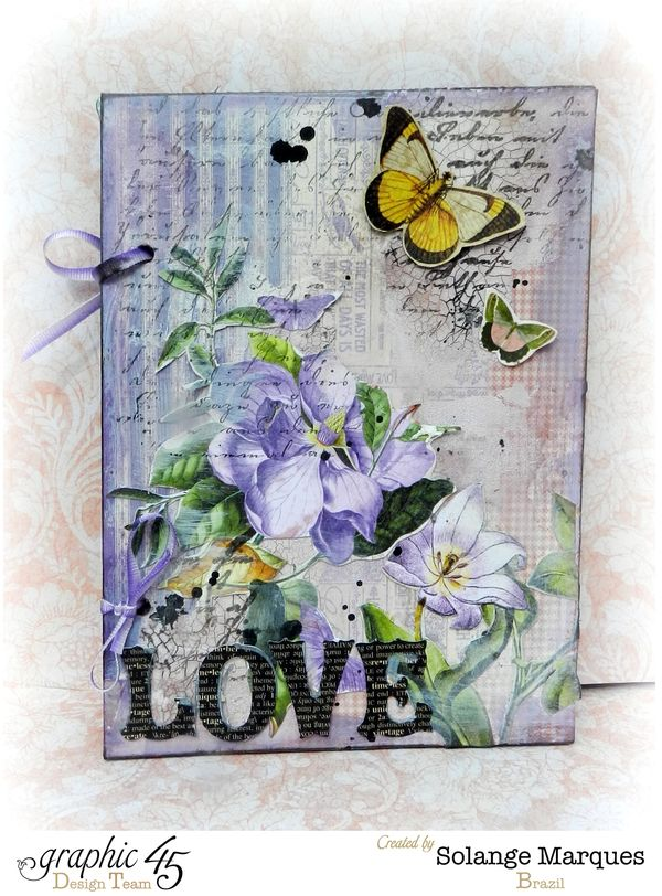 Love Card Tutorial by Solange Marques. Graphic 45 Time to Flourish collection (1)