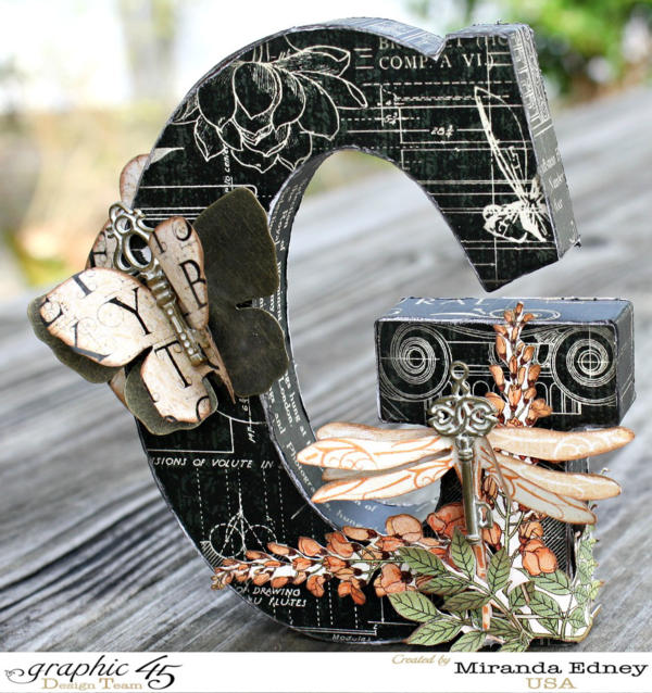 A beautiful altered letter from the amazing Miranda using Graphic 45 Artisan Style - Wow!