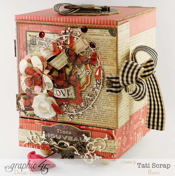 Valentine's Day love with Graphic 45 altered art by Tati Scrap!