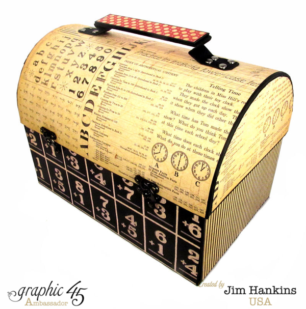 An ABC Primer handmade lunch pail by Jim, the Gentleman Crafter