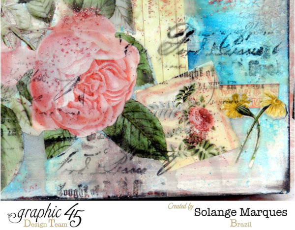 2015 calendar by Solange Marques- Graphic 45 Time to Flourish collection. Amazing layers! #graphic45