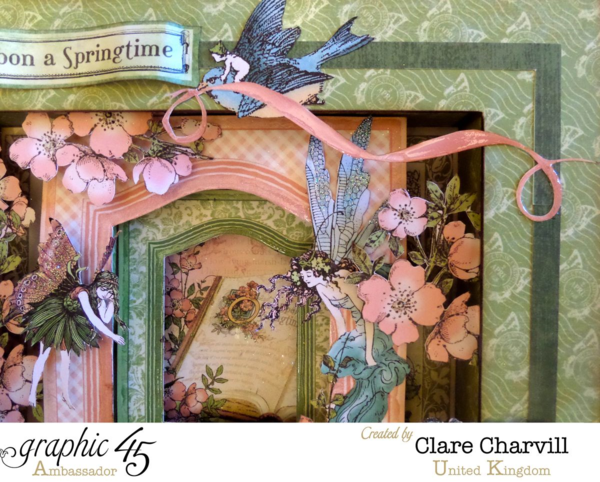 Need some Spring? Gotta love this Once Upon a Springtime shadowbox by Clare #graphic45