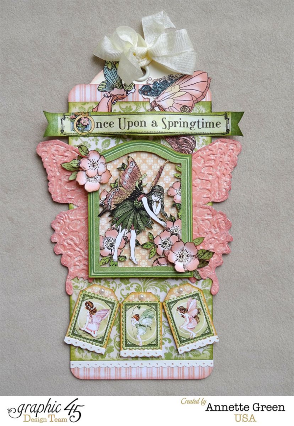 A beautiful Once Upon a Springtime Large Ivory Tag by Annette! Amazing #graphic45