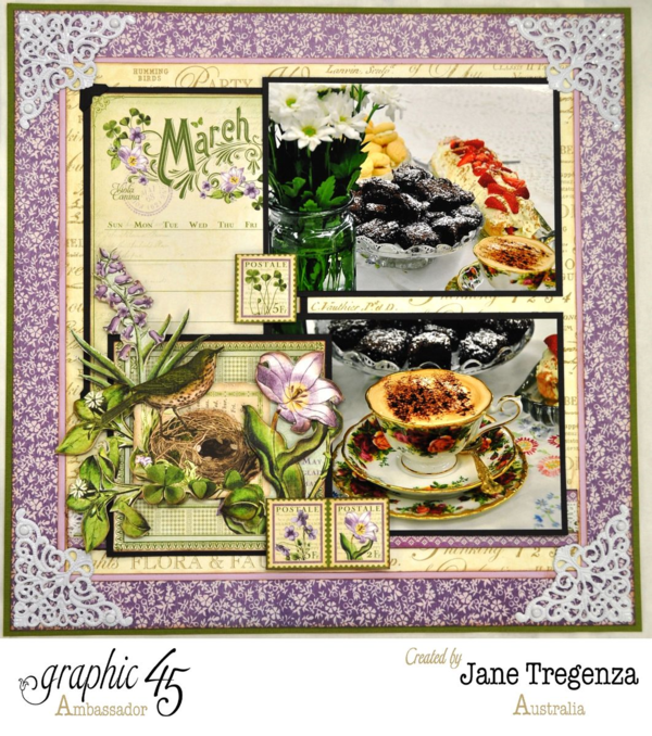 Monthly March Double Layout by Jane - right side #graphic45