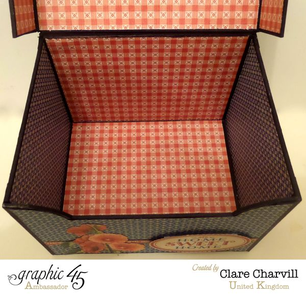 Home Sweet Home Recipe Box 1 Clare Charvill GRaphic 45