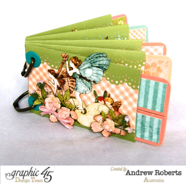 Learn how to make this album with a Springtime tutorial from Andrew! #graphic45