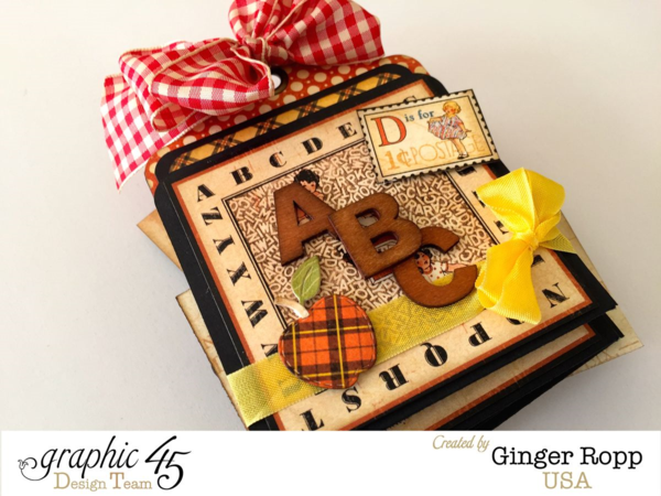 Abc Primer Tag Album Front by Ginger Ropp #graphic45