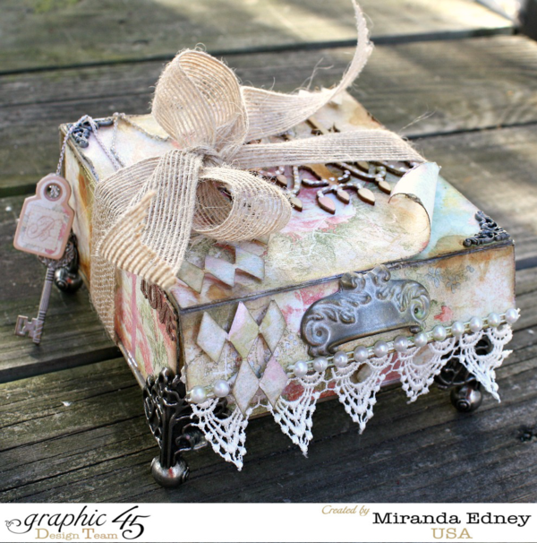 Try this altered box by Miranda Edney using Baby 2 Bride! #graphic45
