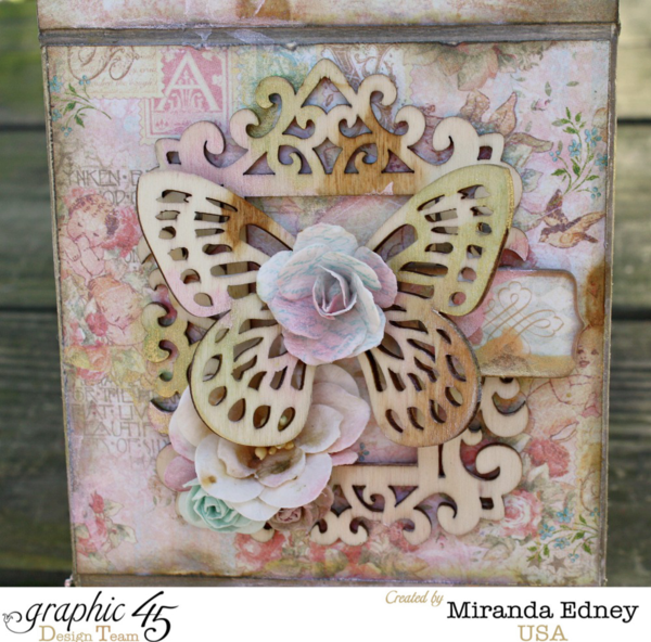 Gorgeous Baby 2 Bride altered box by Miranda #graphic45