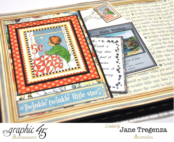 Twinkle Twinkle Little Star pages in Jane's Mother Goose album #graphic45