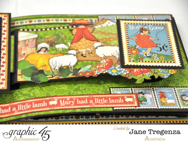 Mary Had a Little Lamb pages from Jane's Mother Goose album #graphic45