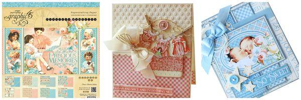 Gloria's Precious Memories cards #graphic45