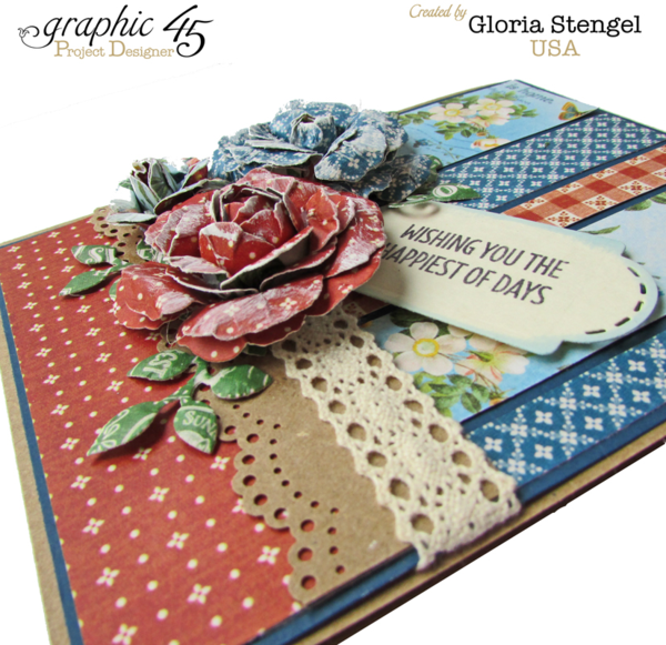 """""""Wishing you the Happiest of Days"""" Home Sweet Home card by Gloria #graphic45"""