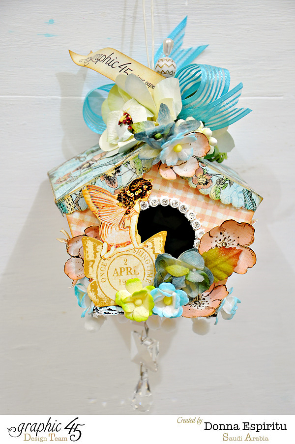 Beautiful Once Upon a Springtime Birdhouse by Donna #graphic45
