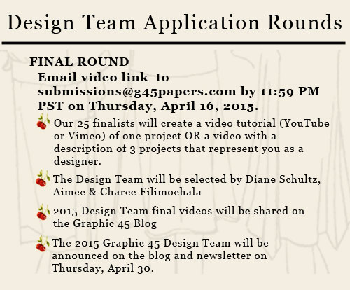 Graphic 45 Design Team Submissions - Final Round