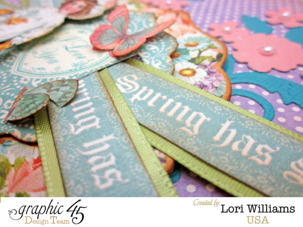 """Spring Has Sprung"" Sweet Sentiments card by Lori #graphic45"