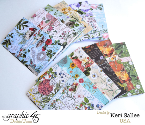 The gorgeous journals inside Keri's Time to Flourish Art Dare album #graphic45