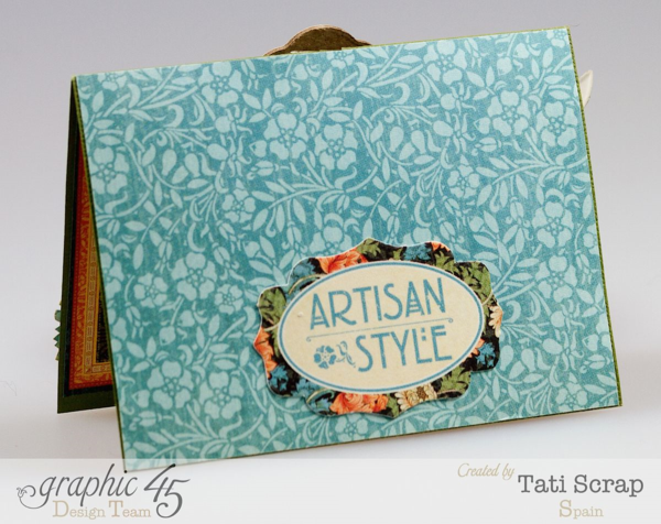 """The back of Tati Scrap's gorgeous Artisan Style """"Imagine"""" card #graphic45"""