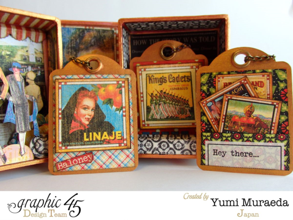 The gorgeous Times Noveau cards in Yumi's Open Sesame box #graphic45
