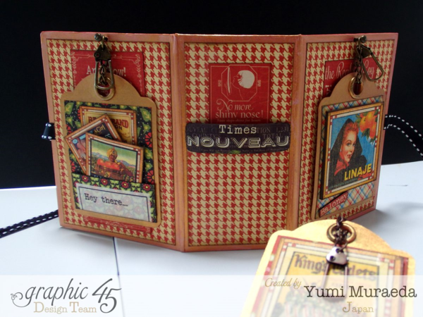 Love this altered book box by Yumi using Times Nouveau #graphic45