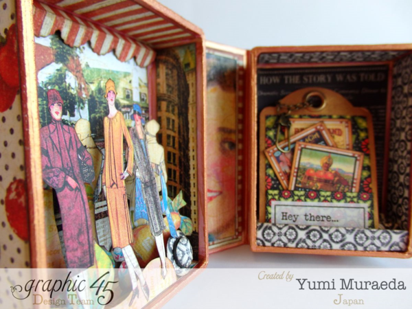 Times Nouveau Open Sesame ATC Book Box by Yumi #graphic45