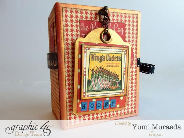 Times Nouveau Open Sesame ATC Book Box by Yumi #Graphic45