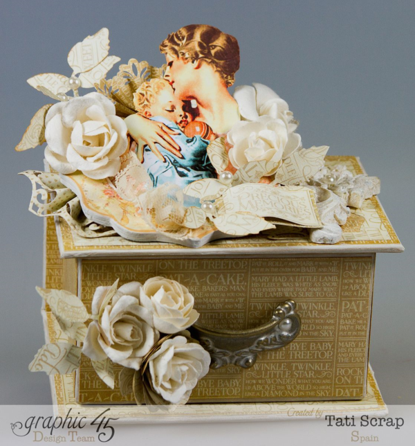 Beautiful Precious Memories Jewelry Box for Mother's Day by the amazing Tati Scrap #graphic45