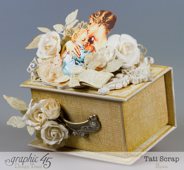 Mother's Day Idea: A gorgeous Precious Memories ATC Jewelry Box by Tati Scrap #graphic45