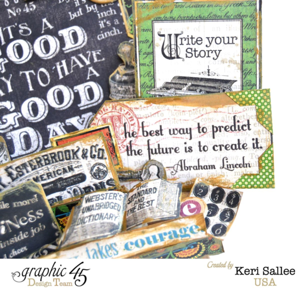 """""""The best way to predict the future is to create it."""" This beautiful """"Idea"""" ATC Book Box is full of inspiration by Keri Sallee #graphic45"""
