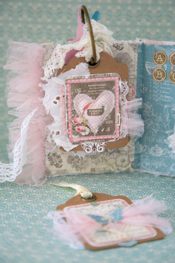 """Humming Birds"" ATC by Nadya in her gorgeous ATC Book Box #graphic45"