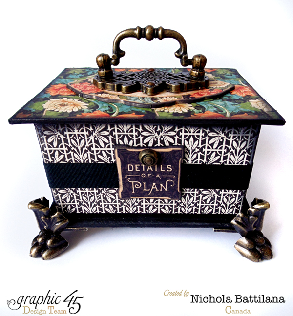 """Details of a Plan"" Artisan Style Book Box by Nichola - so elegant! #graphic45"