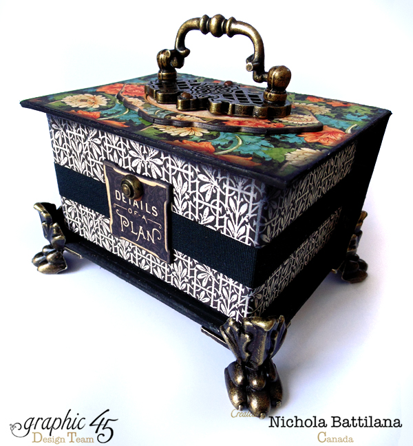 Loving the claw feet on this stunning Artisan Style ATC Book Box by Nichola #graphic45