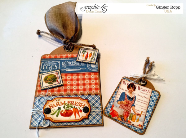 "Beautiful ""Farm Fresh"" tag using Home Sweet Home by Ginger Ropp #graphic45"