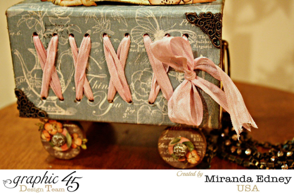 Beautiful lacing on this ATC Book Box Fairy Garden by Miranda using Once Upon a Springtime #graphic45
