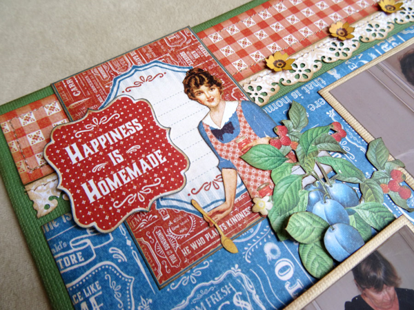 """""""Happiness is Homemade"""" on this Home Sweet Home layout by the brilliant Annette #graphic45"""