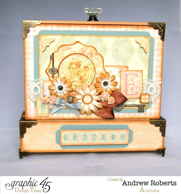 Make a beautiful altered box for your precious letters and keepsakes with Baby 2 Bride! This project is by Andrew Roberts #graphic45