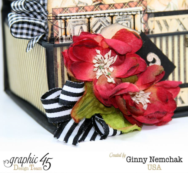 ABC Primer Book Box 3d Collage by Ginny Nemchak! Beautiful florals and ribbon that perfectly match this piece #graphic45